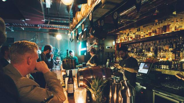 Inside Sydney's Stitch Bar.