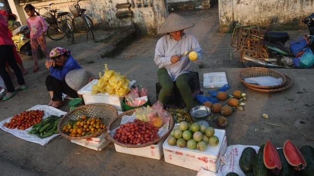 Hanoi fruit market