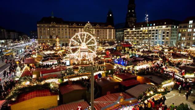 The Dresden Striezelmarkt marks its age by the centuries.
