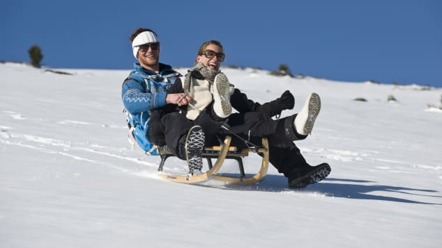 Guests can go sledding on their own or take part in weekly tours.