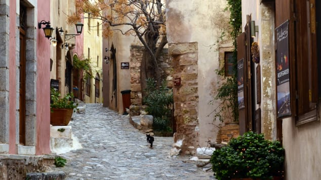 Monemvasia's streets are unchanged since the Middle Ages.