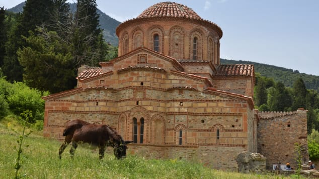 The medieval ghost town of Mystras.