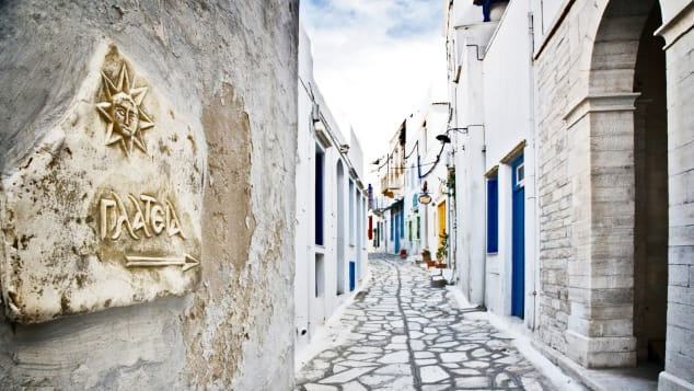 Pyrgos, on the munciaplity of Tinos, is a haven for marble.