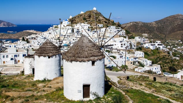Don't miss the Greek island of Ios, known for its iconic windmills.