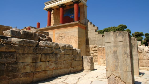 The palace of Knossos was the capital of the Minoan civilization, the first in Europe.