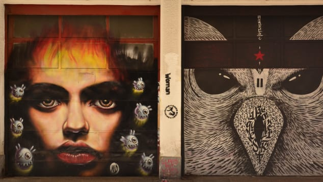 Greece has become a canvas for street artists.