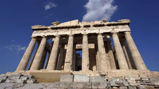 The Acropolis is Greece's most famous monument, a symbol of Greek antiquity.