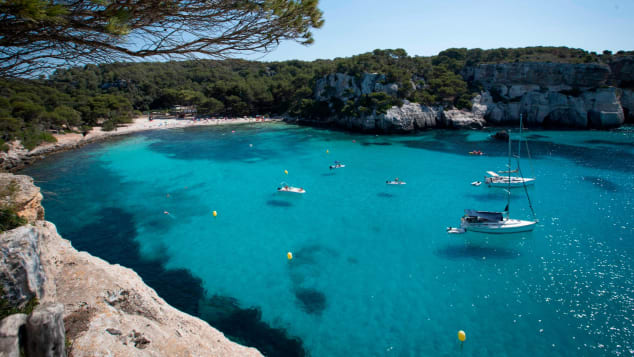 Menorca is a great spot for sunbathing.