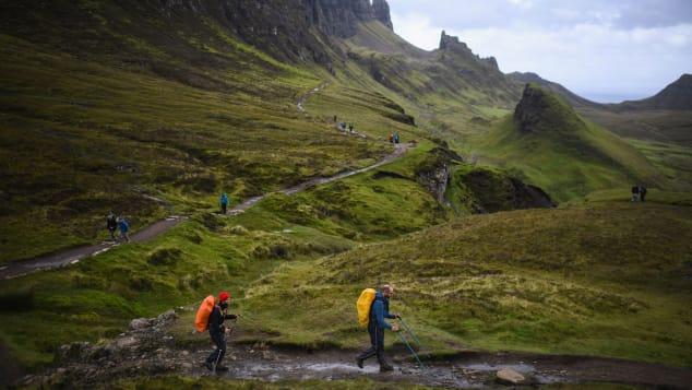 Isle of Skye tourists