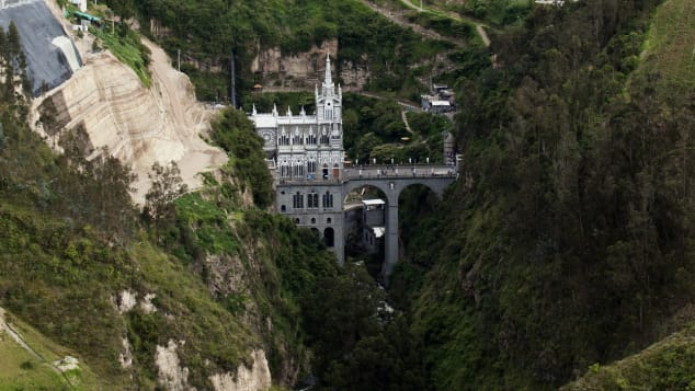 Las Lajas Sanctuary is one of the most popular tourism spots in all of Colombia.