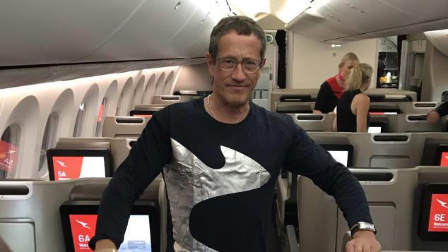Richard Quest Qantas flight