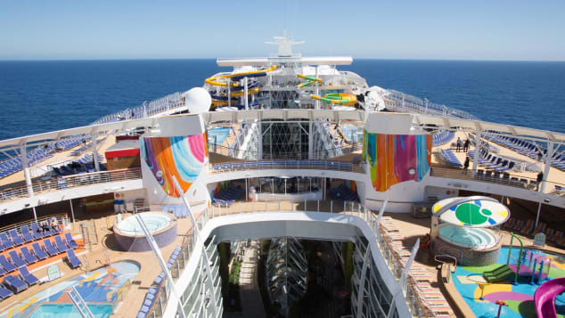 Symphony of the Seas  - Aerial view of deck