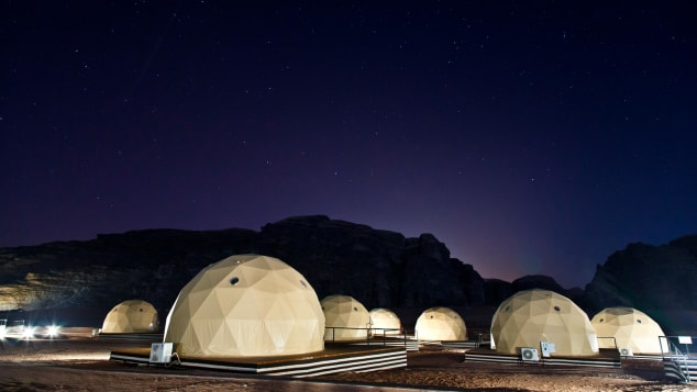 Stargazing is one of the most popular activities at Wadi Rum.