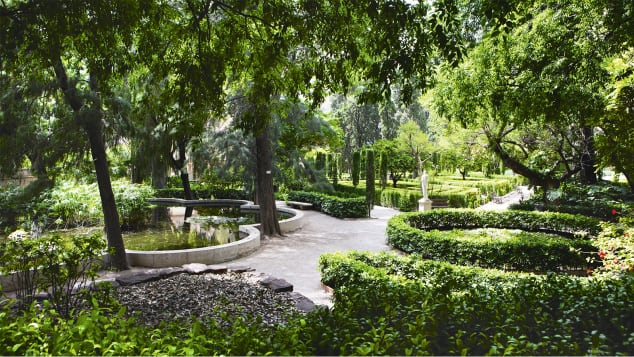 It's important to find green space in the urban jungle. Pictured here: Jardínes de Monforte, Valencia, Spain.