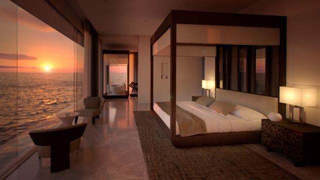 Conrad-Maldives-Rangali-Island-underwater-villa---CMRI_OWR_Master-Bedroom