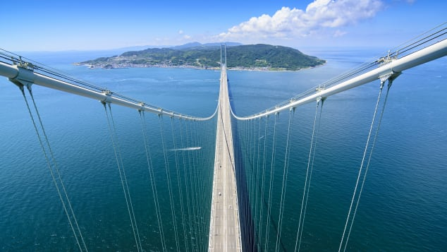 Akashi Kaikyō Bridge is the world's longest suspension bridge.