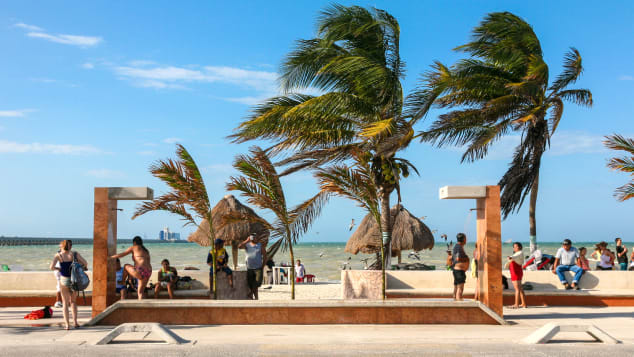 Progreso Beach's malecon has gorgeous views of the Gulf of Mexico.