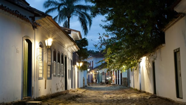 The charming town of Paraty hosts a literary festival every summer.
