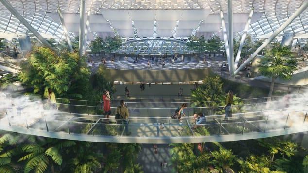 Singapore Changi Jewel Canopy Bridge