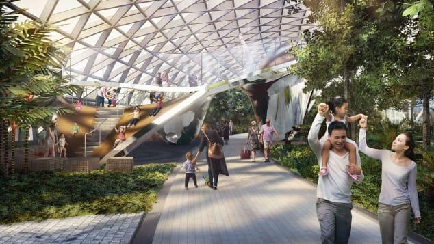 Singapore Changi Jewel Discovery Slides