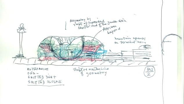 Moshe Safdie Sketch 1_Jewel_courtesy Safdie Architects