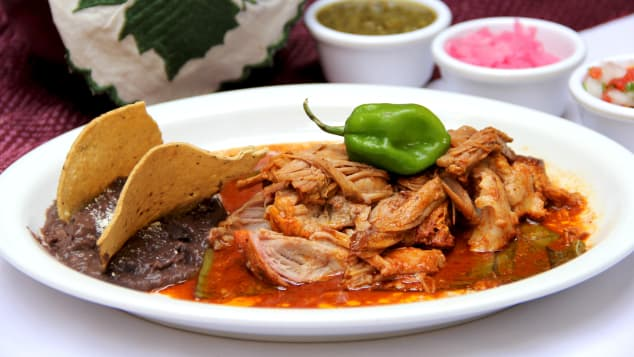 Cochinita pibil is a popular request at La Chaya Maya.