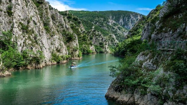 Canyon Matka is one of the prettiest spots to visit in Macedonia.