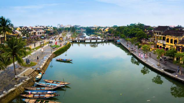 Hoi An do Vietnã está listado como Patrimônio Mundial da UNESCO.