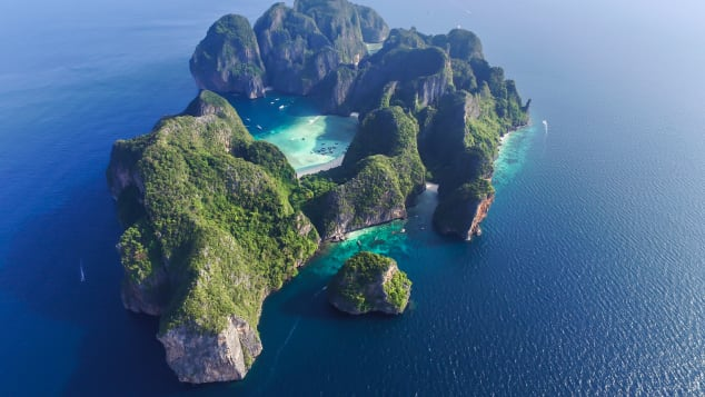 Thailand's Koh Phi Phi Leh -- one of many stunning islands on the Andaman Coast.