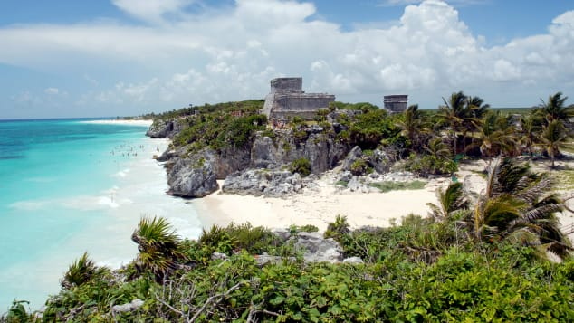 The Tulum ruins in the Riviera Maya are one of most visited archaeological sites in Mexico.