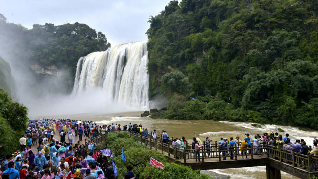 China Huangguoshu largest waterfall cluster Guizhou