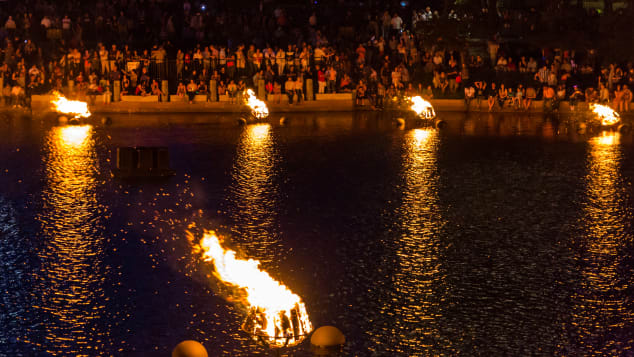WaterFire began in Providence in the 1990s.