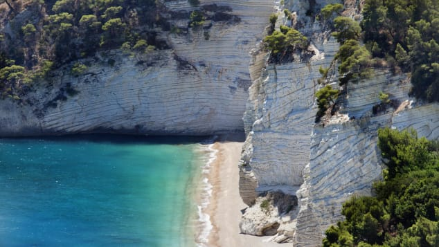 Gargano has 150 kilometers of beaches and rocky inlets.