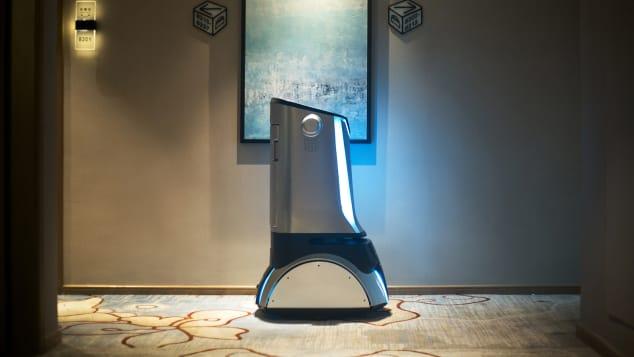 China automated robot hotel