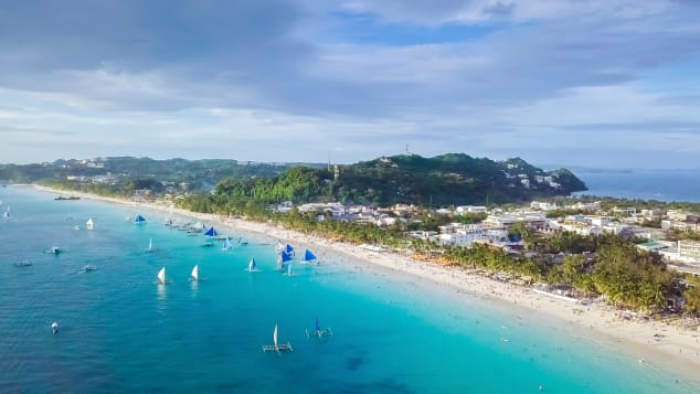 Boracay in the Philippines was closed for six months due to sewage pollution from hotels