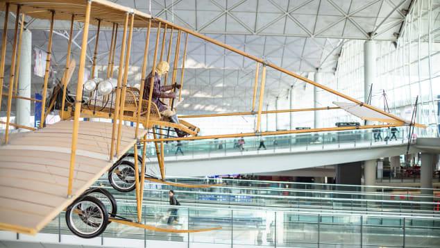 Hong Kong Airport Farman biplane