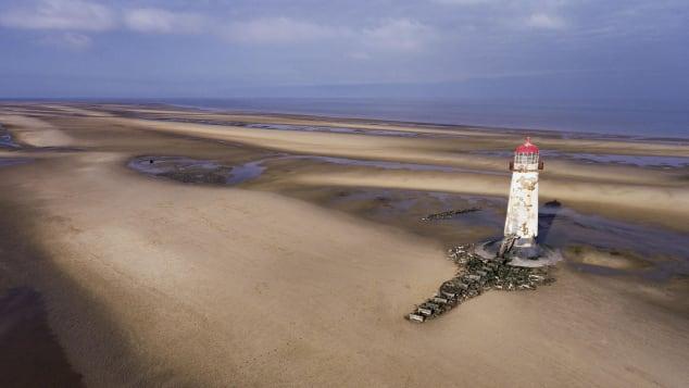 Ponto do Farol de Ayr, Praia de Talacre, Flintshire, País de Gales Shutterstock (Brian Dicks)