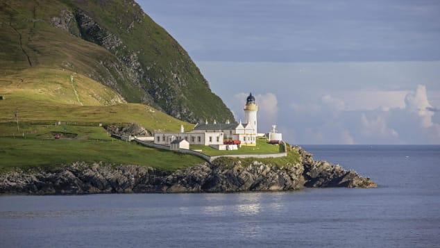 Farol de Bressay, Shetland, Escócia Shutterstock (Marc Andre Le Tourneux)