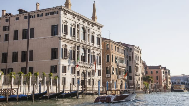 The Aman Venice has incredible views of the Grand Canal.