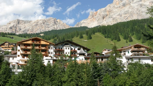 Rosa Alpina is situated in a ski resort in the Dolomites.