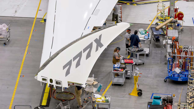 Wingtip of the 777x