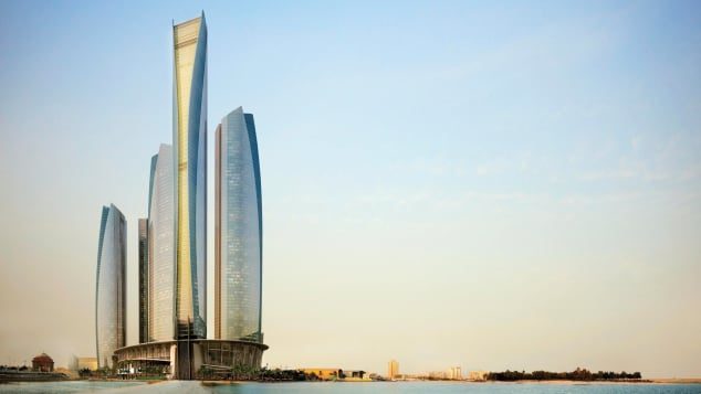 Jumeirah at Etihad Towers (Exterior Day) -- Courtesy Department of Culture and Tourism -- Abu Dhabi