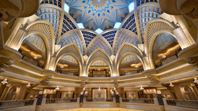 The Emirates Palace cost more than $3 billion to build.