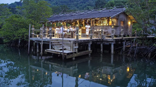 Benz is an open-air lantern-lit eatery on stilts.