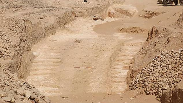 The remains of the ramp were found by an Anglo-French team of researchers