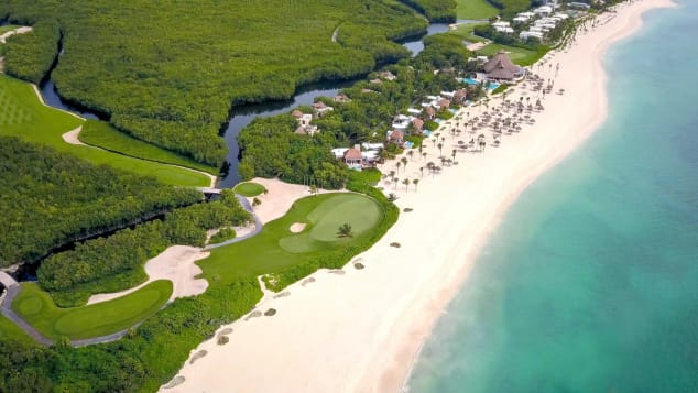 Fairmont Mayakoba has a selection of beachfront casitas in addition to its lagoon-side offerings.