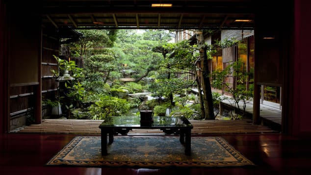 Nishimuraya Honkan is a seventh-generation ryokan boasting private gardens, rock pools and, in its onsen, supposedly healing waters.