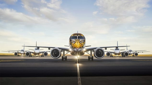 Embraer E190 E2 airplane animal-themed livery