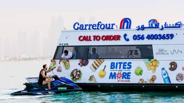 Dubai dloating supermarket