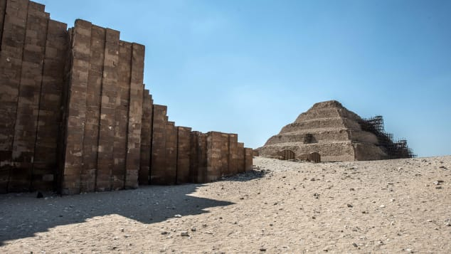 The Djoser step pyramid in the Saqqara necropolis